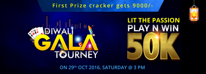 Gorummy biggest Diwali Gala Rummy Tourney – Win Rs.50, 000 Cash Prize